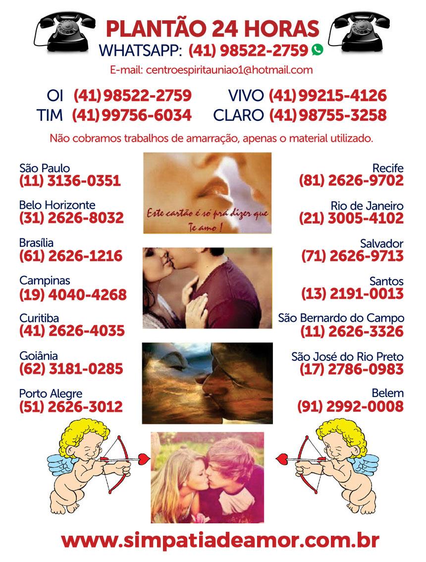 telefones simpatia de amor